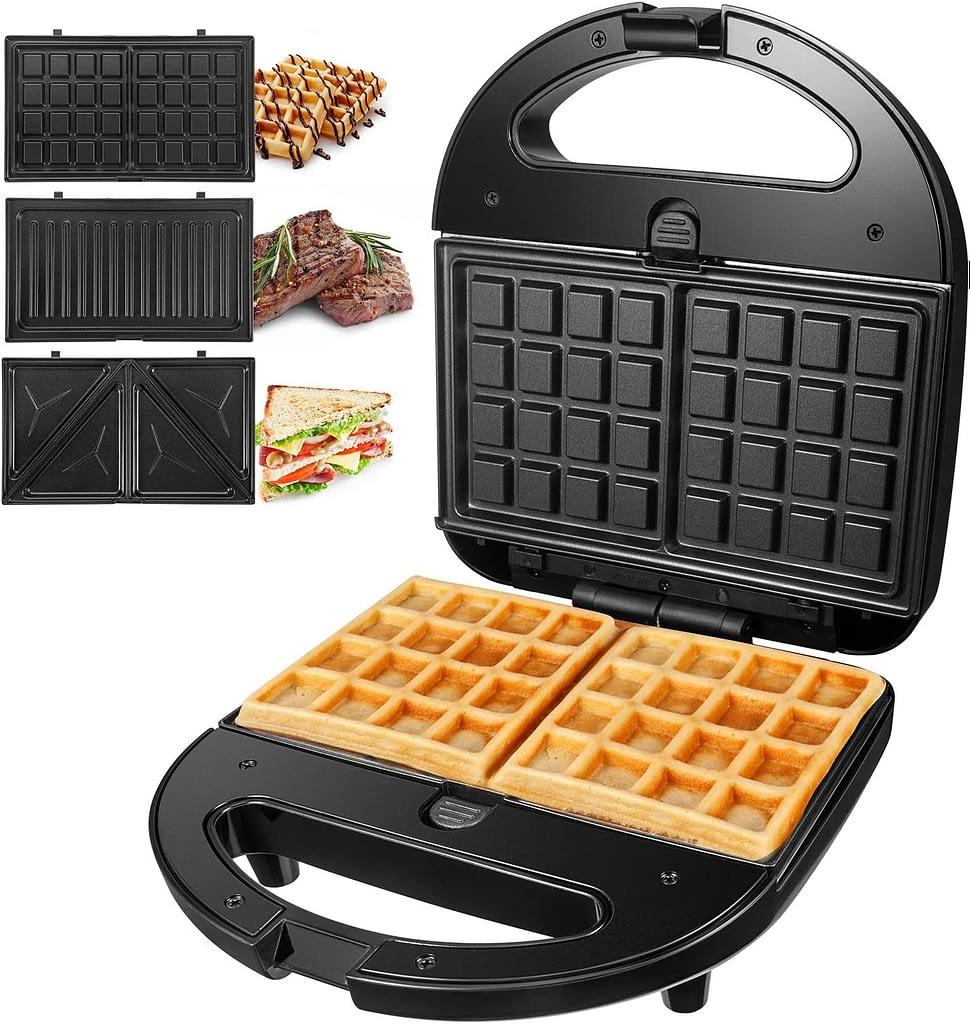 OSTBA Sandwich Maker 3-in-1 Waffle Iron