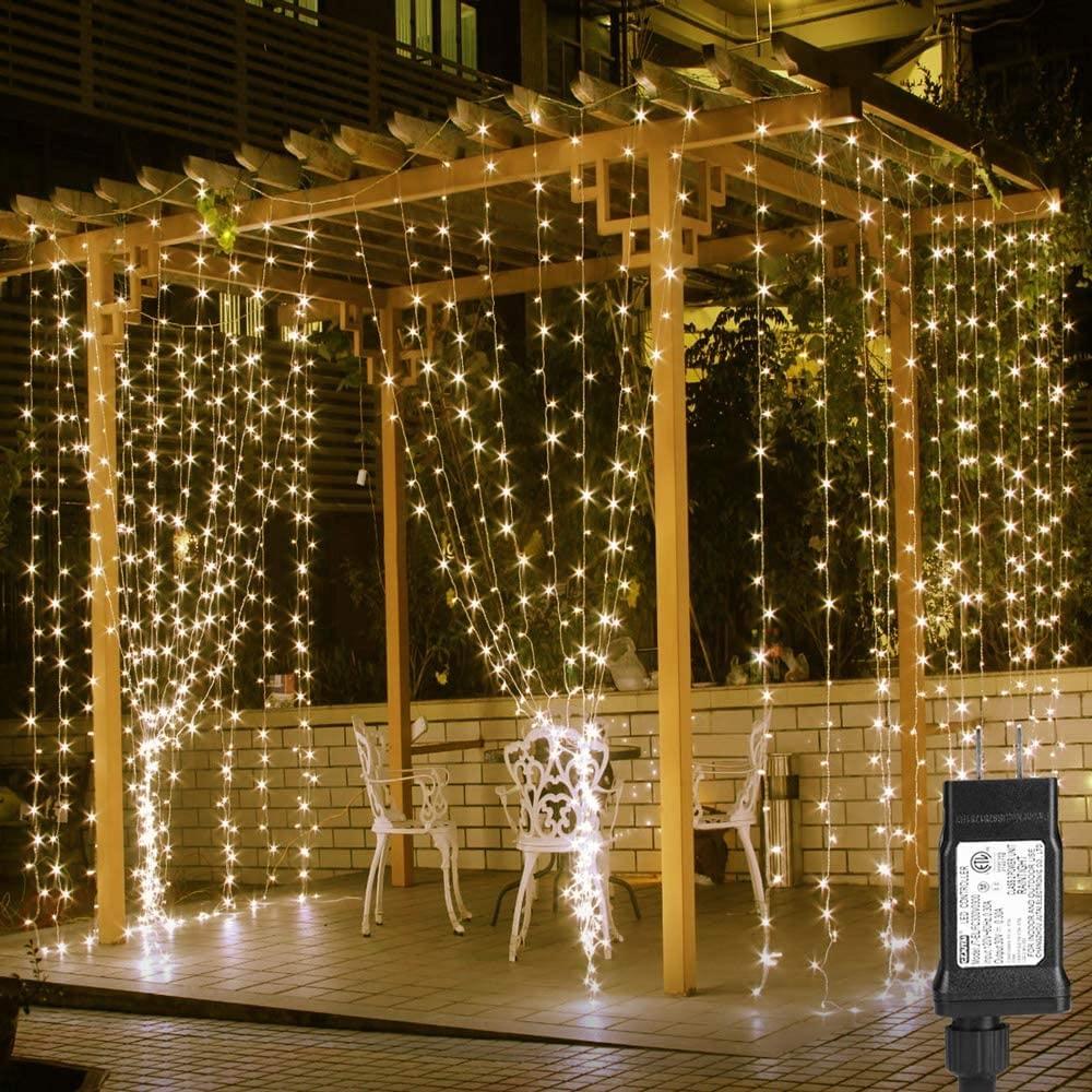 Lighting EVER Curtain Outdoor String Lights