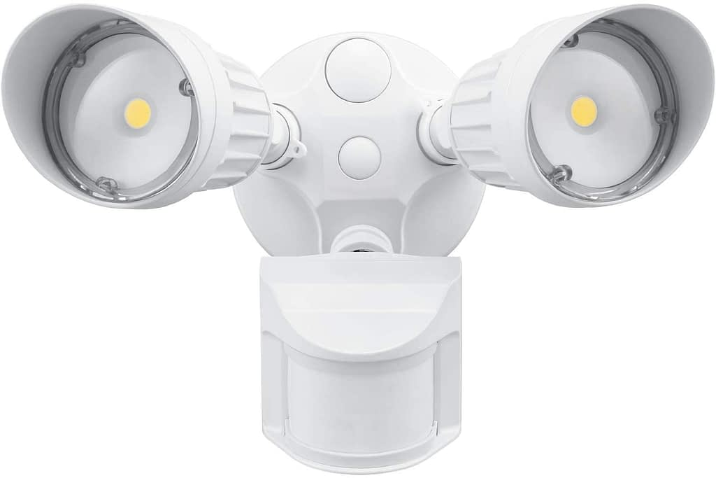 LEONLITE 2-Head Motion Activated LED Outdoor Security Light