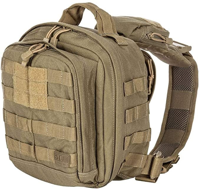 5.11 Tactical Rush Moab 6 Sling Pack Messenger Bag, Water-Resistant, Customization Sling Bag, Style 56963