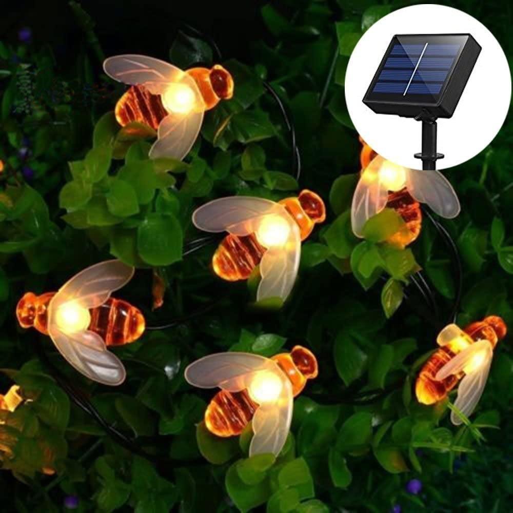 WONFAST Honeybee Solar Outdoor String Lights
