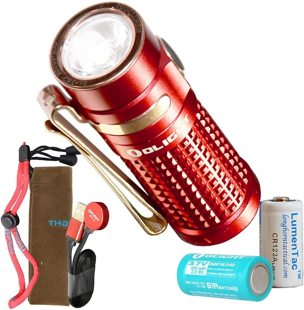Olight S1R II 1000 Lumen Rechargeable EDC Flashlight with 1x Olight Rechargeable Battery