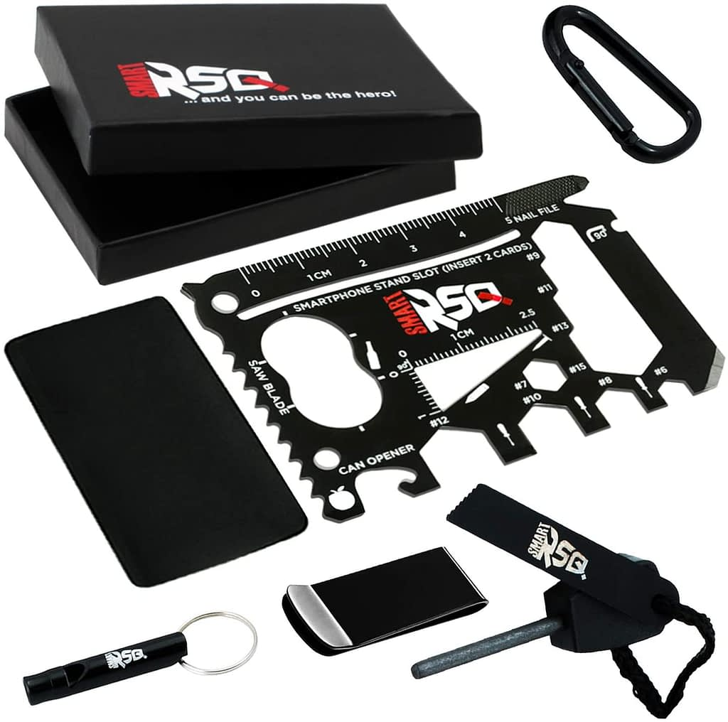 SMART RSQ 37-in-1 Black Wallet EDC Multitool Card