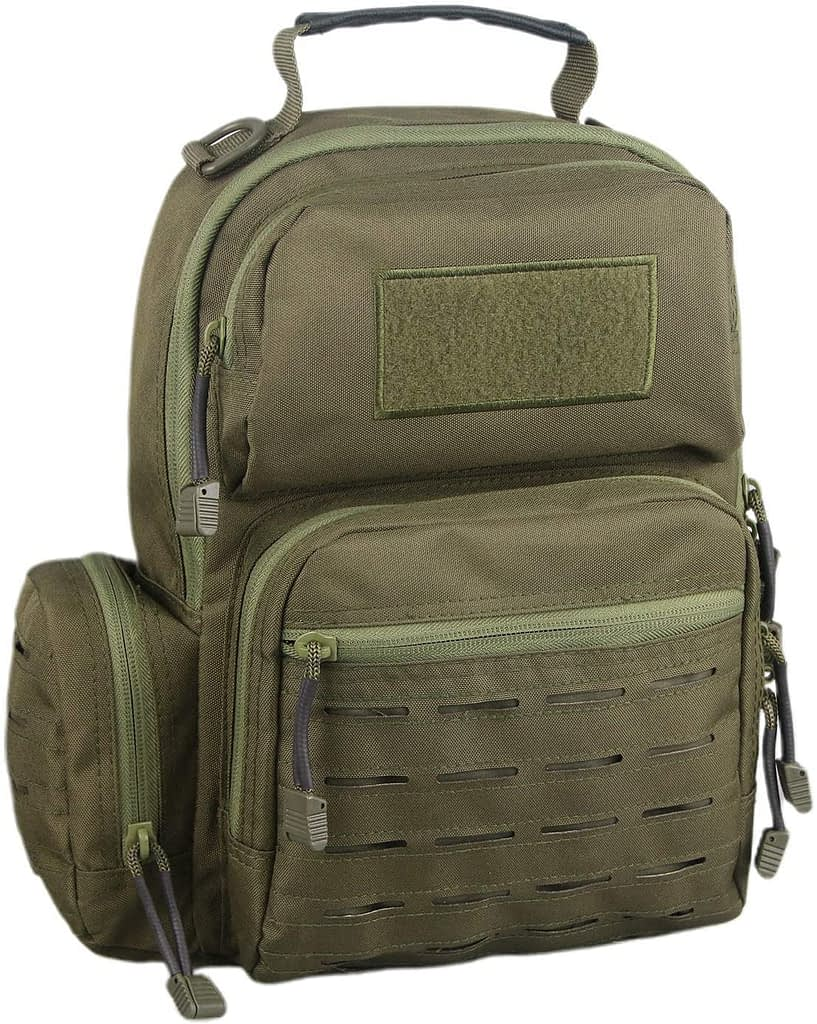 LQArmy Tactical Sling Bag Day Pack Military Rover Shoulder Backpack Small EDC Molle Assault Range Bags for Everyday Carry Out