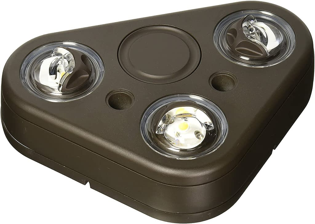 ALL-PRO Outdoor Security REV335FW Revolve LED Triple Head Flood Light