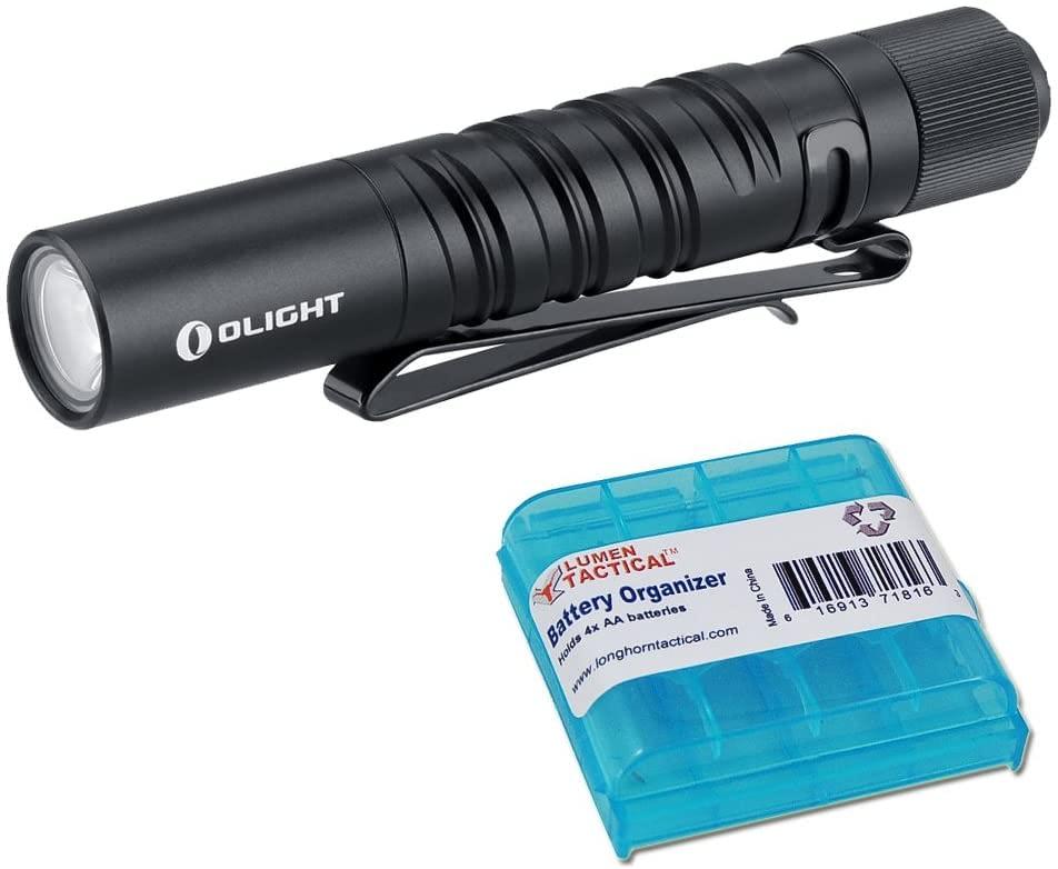 Olight I3T Dual-Output Slim EDC Flashlight with LumenTac Battery Organizer