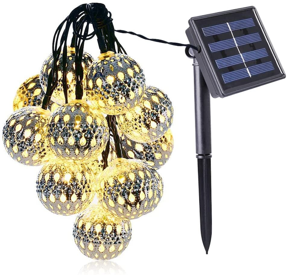 K.T Fancy Moroccan Globe Solar Outdoor String Light