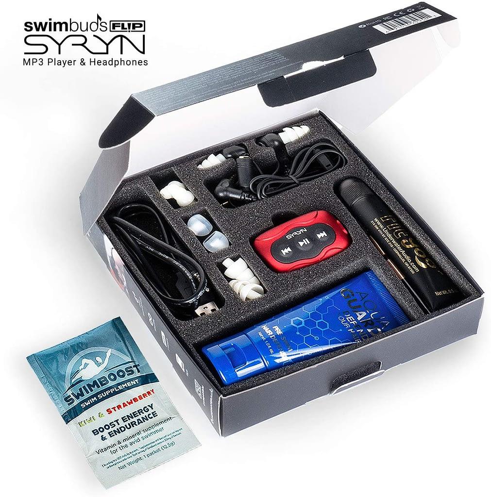 Swimbuds Flip Headphones With 8 GB SYRYN Waterproof MP3 Player