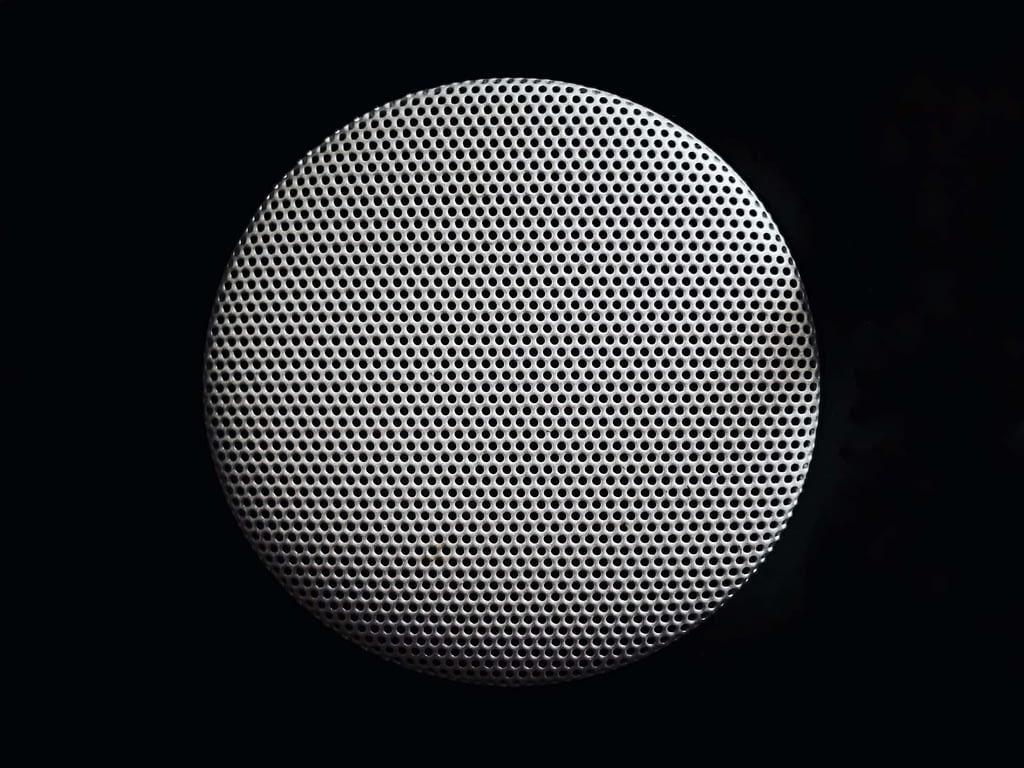 black and grey wireless speaker