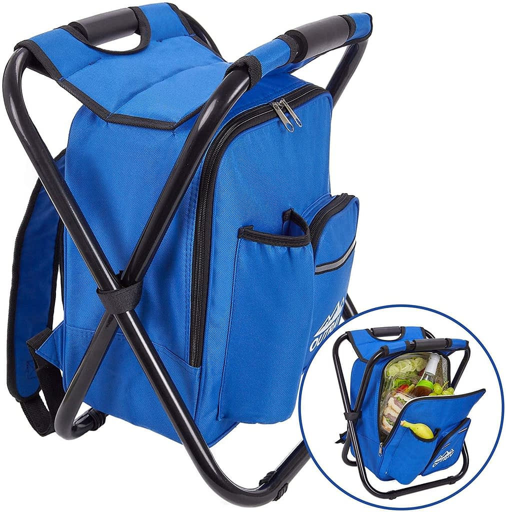 Outrav Blue Backpack Cooler and Stool