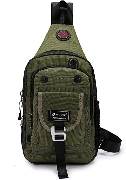 Nicgid Sling Bag Chest Shoulder Backpack Crossbody Bags for iPad Tablet Outdoor