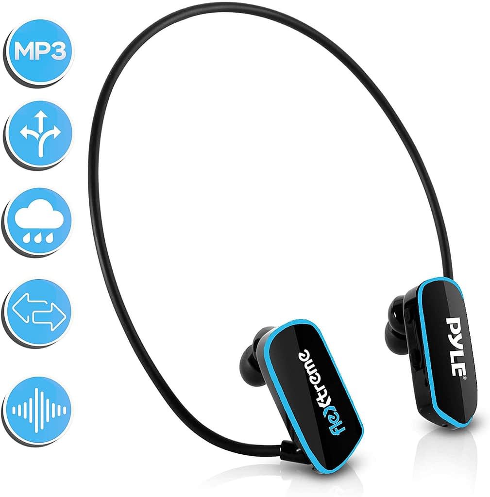 Pyle Waterproof MP3 Player Swim Headphone Submersible IPX8
