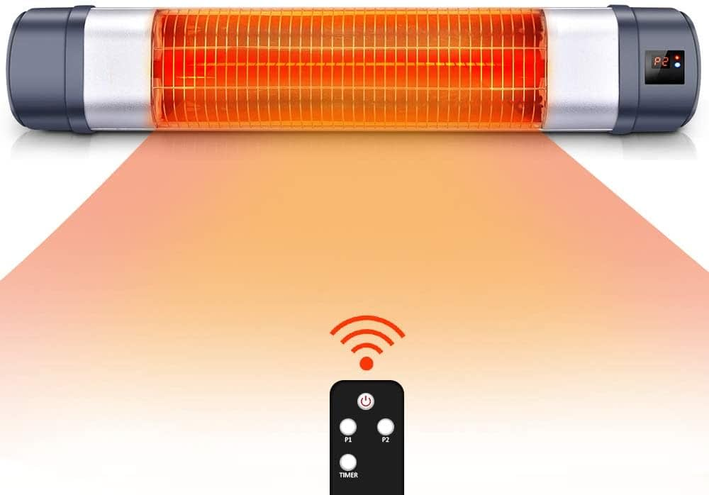 Trustech Patio Heater - 1500W Infrared Red Tube Space Heater