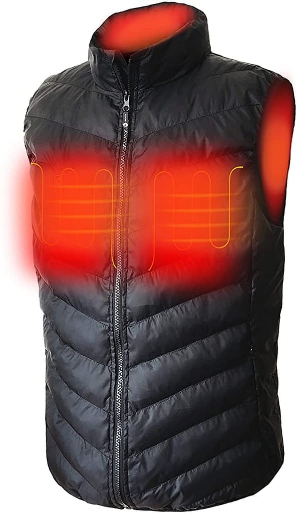 Red Bear Down Cotton Heated Vest