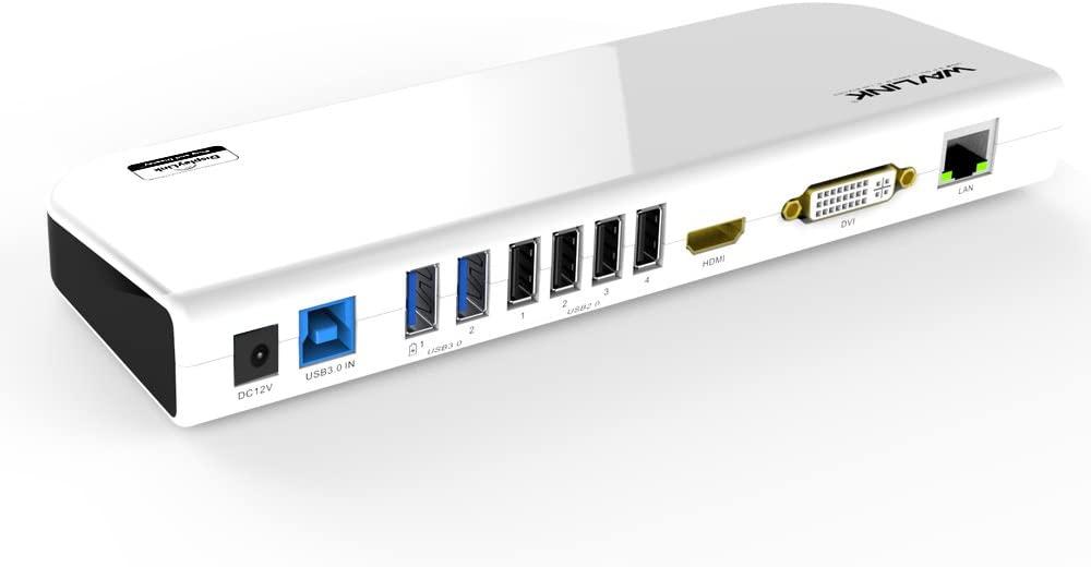 WAVLINK USB 3.0 Universal Laptop Docking Station Dual Display