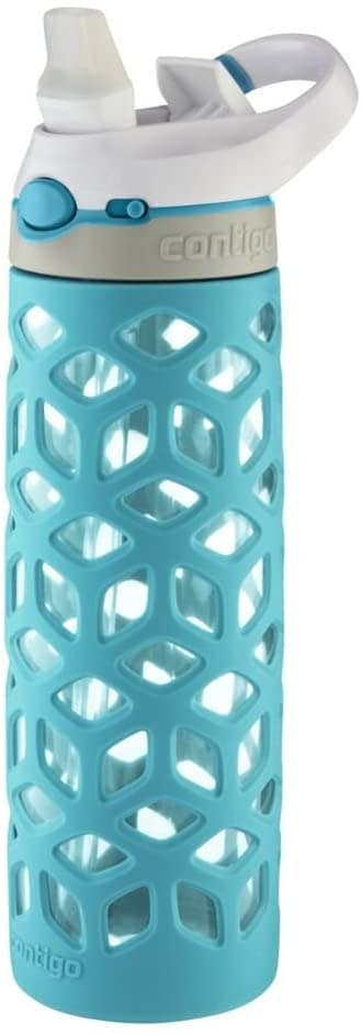 Contigo AUTOSPOUT Straw Ashland Glass Water Bottle, 20 oz